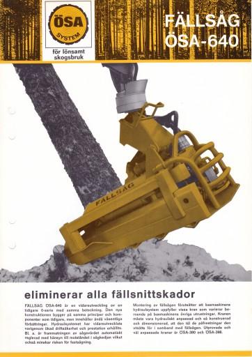 ÖSA 640 Fällsåg 1972