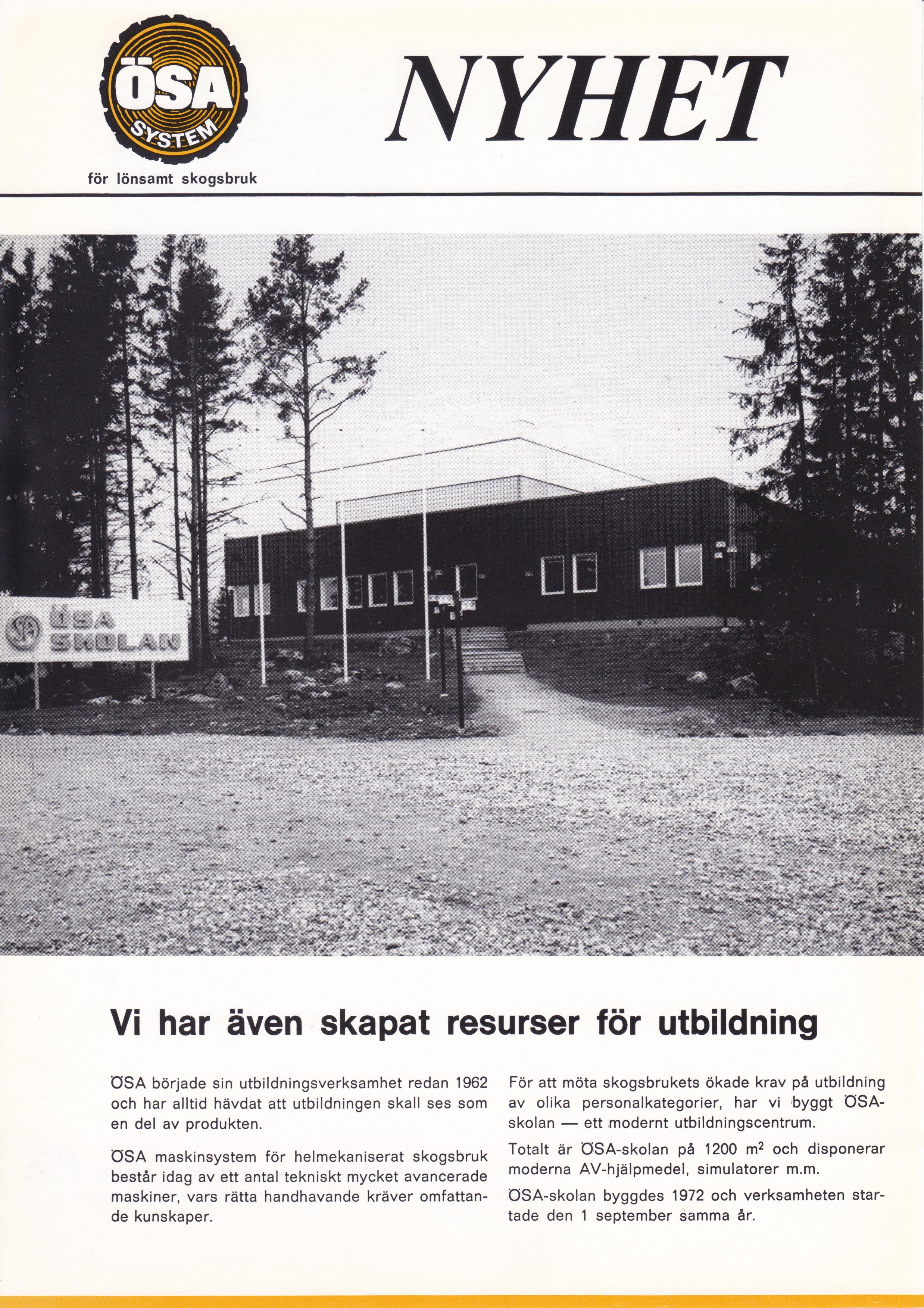 Broschyr 1972 sida 1