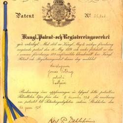 Jonas patentbrev