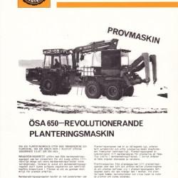 ÖSA 650 Planteringsmaskin